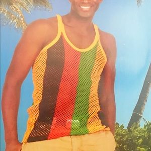 Rasta Caribbean Style Mesh Vest- Carnival Style